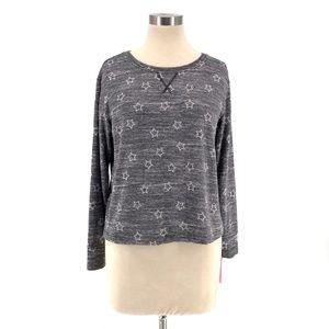 Jenni Soft Knit Star Print Long Sleeve Pajama Top